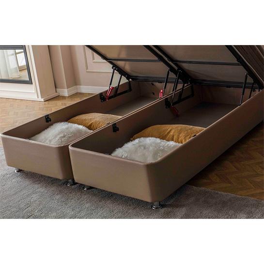 Maison Interiors Paris Taupe Premium Opbergboxspring Opbergruimte