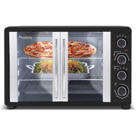 Turbotronic Feo45 Elektrische Oven 45 Liter Zwart Met Inhoud
